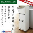 ゴミ箱 ごみ箱 ダストボックス【あす楽】資源ゴミ 分別ワゴン 3段 ワイド 43Lキャスター付き