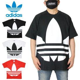 アディダス ADIDAS Tシャツ 半袖 メンズ レディース ブランド 大きいサイズ BIG TREFOIL BOXY TEE FM9904 FM9903 FM9906 ブラック ホワイト レッド M L XL