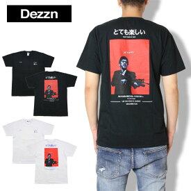 【SALE20%OFF】DEZZN デジーン プリントTシャツ Happy T-Shirt IN9172S グラフィック ブラック ホワイト M L