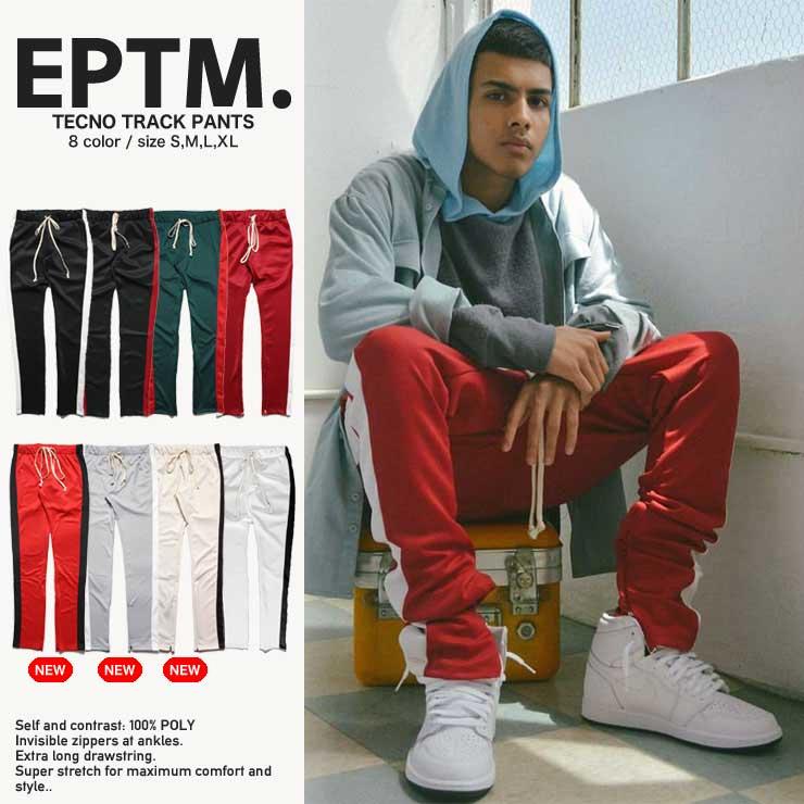 【セール 1000円OFF】EPTM エピトミ パンツ トラックパンツ 裾ジップ TECHNO TRACK PANTS/メンズ/レディース/HIP HOP/ヒップホップ/B系/ストリート系/メンズファッション