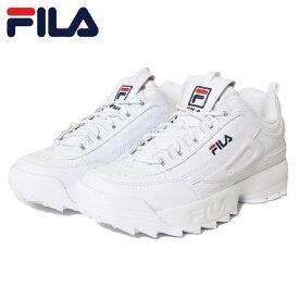 フィラ ディスラプター2 スニーカー FILA DISRUPTOR 2 F0215 WHITE ダッドスニーカー ディスラプター ウォーキング ホワイト 26.5cm 27cm 27.5cm 28cm