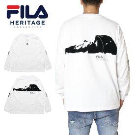 【冬物最終処分SALE30%OFF】フィラヘリテージ ロンTEE ロングスリーブTシャツ FILA HERITAGE CREW NECK SHIRT FM9688 大きいサイズ かっこいい おしゃれ メンズ レディース M L XL