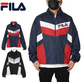 フィラ FILA ジャケット ナイロンジャケット メンズ レディース 大きいサイズ Men's 切替スタンドジャケット FH7681 ネイビー ブラック M L XL XXL