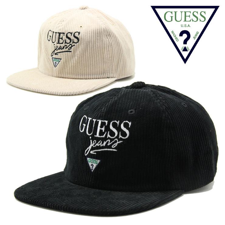 GUESS GREEN LABEL ゲス グリーンレーベル JEANS CAP GRFW18-027 メンズ レディース 秋冬 キャップ ブラック ベージュ FREE