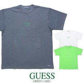 【セール20%OFF】GUESS GREEN LABEL ゲス グリーンレーベル Tシャツ GUESS USA LIME TEE GRSS19-009 メンズ レディース 春夏 ブラック ホワイト グリーン