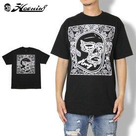 【期間限定!10%OFFクーポン配布中】HAOMING ハオミン Tシャツ MASK PAISLEY TEE 1834-42 格闘 ランニング ジム トレーニング ブラック M L XL