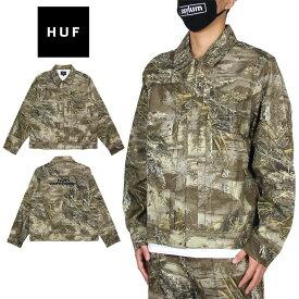ハフ ジャケット HUF ワークジャケット セットアップ対応 メンズ レディース ブランド 大きいサイズ おしゃれ おすすめ 迷彩 LINCOLN TRUCKER JACKET JK00261 カモ M L XL