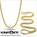 KING ICE キングアイス ネックレス ロープ チェーン 14Kゴールド コーティング 14K GOLD DOOKIE ROPE CHAIN(4mm×60c...