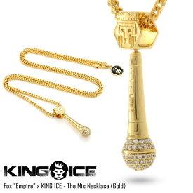 KING ICE キングアイス 14Kゴールド コーティング Empire コラボ ネックレス FOX EMPIRE X KING ICE THE MIC NECKLACE(GOLD)/メンズ/レディース/ヒップホップ/B系/ストリート系メンズファッション