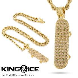 KING ICE キングアイス THE CZ MINI SKATEBOARD メンズ レディース ネックレス ゴールド ONE SIZE