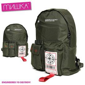 【SUMMER SALE 30%OFF】ミシカ MISHKA SOLDIER KEEP WATCH BACKPACK MAW183104 メンズ レディース 秋冬 ストリート ブラック バックパック FREE
