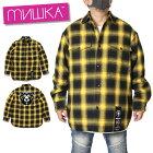 MISHKAミシカシャツジャケットJACKETMAW190608イエローMLXL