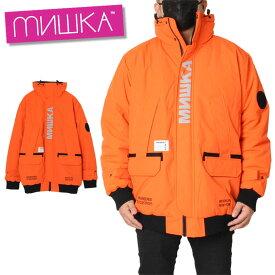 ミシカ MISHKA ジャケット ダウンジャケット スノーウェア メンズ レディース 大きいサイズ JACKET MAW190639 オレンジ M L XL