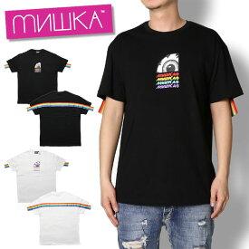 【セール30%OFF】ミシカ MISHKA KEEP WATCH RAINBOW S/S TEE MSS190047 メンズ レディース 春夏 Tシャツ ストリート ブラック ホワイト レインボー M L XL XXL