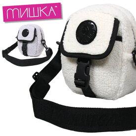 ミシカ MISHKA ショルダーバッグ ポシェット ボア メンズ レディース ブランド BAG MAW203117 ホワイト ラベンダー
