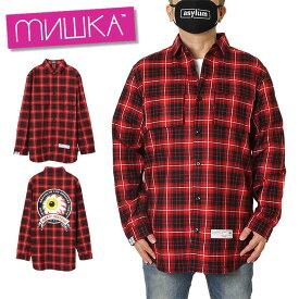 ミシカ MISHKA チェックシャツ メンズ レディース ブランド 大きいサイズ CHECK SHIRT MSS200252 ブラック M L XL