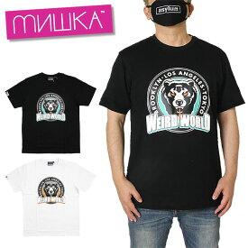 【楽天スーパーSALE 4時間限定20%OFFクーポン対象♪】【30%OFF】ミシカ MISHKA Tシャツ 黒 白 半袖 メンズ レディース ブランド 大きいサイズ ストリート ヒップホップ T-SHIRT MSS200068 ブラック ホワイト M L XL
