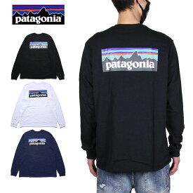 パタゴニア ロンT PATAGONIA Tシャツ 長袖Tシャツ メンズ レディース 大きいサイズ おしゃれ おすすめ 人気 M's LONG-SLEEVED P-6 LOGO RESPONSIBILI-TEE 38518 ブラック S M L XL XXL