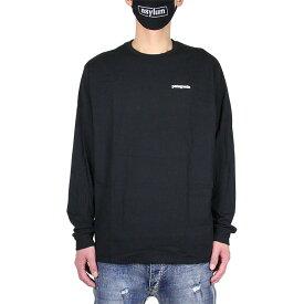 【お買い物マラソン 全品対象お得なクーポン配布中】パタゴニア PATAGONIA ロンT 長袖Tシャツ メンズ レディース 大きいサイズ M's LONG-SLEEVED P-6 LOGO RESPONSIBILI-TEE 38518 ブラック S M L XL XXL