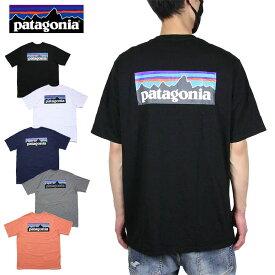 【お買い物マラソン 10%OFFクーポン配布中】パタゴニア PATAGONIA Tシャツ 半袖Tシャツ メンズ レディース 大きいサイズ M's P-6 LOGO RESPOSIBILI-TEE 38504 ブラック ホワイト ネイビー レッド S M L XL XXL