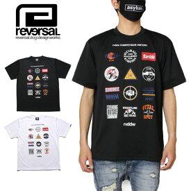 【お買い物マラソン 全品対象お得なクーポン配布中】リバーサル REVERSAL Tシャツ 半袖Tシャツ ドライメッシュ 吸汗 速乾 メンズ レディース ブランド 大きいサイズ おしゃれ かっこいい ALL STAR MARK DRY MESH TEE rv20ss019 ブラック ホワイト S M L XL XXL