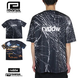 リバーサル Tシャツ reversal 半袖Tシャツ rvddw ドライ メンズ レディース ブランド 大きいサイズ おしゃれ おすすめ 黒 BIG SILHOUETTE DRY TEE rv21ss013 ブラック M L XL