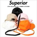 スペリオール ロングストラップ キャップ Superior LONG ADJUSTER CAP/B系/ストリート系メンズファッション/