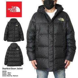 【冬物最終処分SALE】ノースフェイス THE NORTH FACE ダウンジャケット 撥水加工 メンズ レディース 大きいサイズ DEPTFORD DOWN JACKET NF0A3MJL ブラック(JK3) ブラック S M L XL