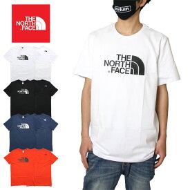 【夏SALE開催 10%OFFクーポン配布中】ノースフェイス Tシャツ S/S EASY TEE NF0A2TX3 大きいサイズ メンズ 綿100% アウトドア ブランド ハーフドームロゴ バックプリント かっこいい お洒落 ホワイト ブラック