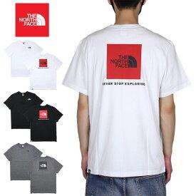 【超クーポン祭り♪驚愕のMAX30%OFFクーポン配布中】ノースフェイス Tシャツ THE NORTH FACE 半袖Tシャツ ボックスロゴ メンズ レディース アウトドア ブランド バックプリント ロゴ 綿100% 大きいサイズ かっこいい S/S RED BOX TEE ホワイト ブラック S M L XL XXL