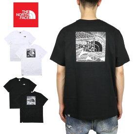 ノースフェイス Tシャツ THE NORTH FACE 半袖Tシャツ ボックスロゴ メンズ レディース アウトドア ブランド バックプリント 綿100% 大きいサイズ かっこいい REDBOX CELEBRATION TEE ホワイト ブラック S M L XL XXL