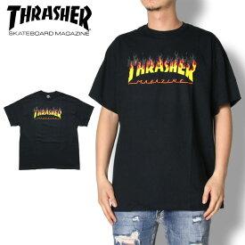 【SUMMER SALE 20%OFF】THRASHER スラッシャー FLAME LOGO S/S TEE 311207 メンズ レディース Tシャツ ブラック M/L/XL