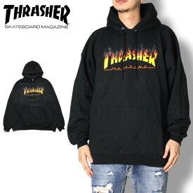 【SUMMER SALE 20%OFF】THRASHER スラッシャー FLAME LOGO P/O HOODIE 314274 メンズ レディース プルオーバーパーカー ブラック M/L/XL