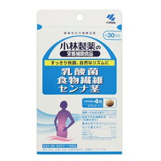 小林製薬の栄養補助食品 乳酸菌 食物繊維 センナ茎 300mg×120粒