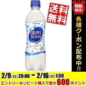 【送料無料】カルピスカルピスソーダ500mlペットボトル 24本入※北海道800円・東北400円の別途送料加算