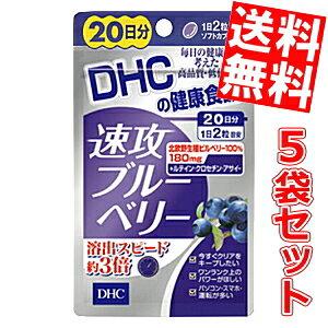 【送料無料5袋セット】DHC 100日分速攻ブルーベリー(20日分×5袋)[DHC サプリメント]※北海道800円・東北400円の別途送料加算