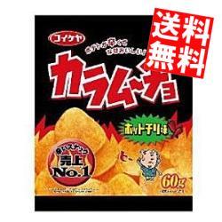 【送料無料】コイケヤカラムーチョチップス ホットチリ味60g12袋入