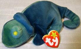TY ビーニーベイビーズ BEANIE BABIES RAINBOW カメレオン(ブルー)ぬいぐるみ