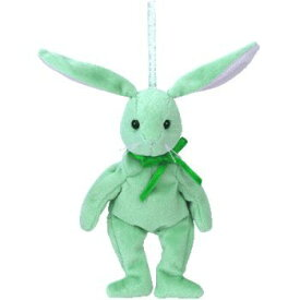 TY バスケットビーニーズ THE BASKET BEANIES HIPPITY ウサギ(グリーン) ぬいぐるみ