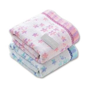 【1枚から注文OK】フラワーシャワーバスタオル(袋入)無撚糸 やわらか 花柄 実用性 毎日使い デイリータオル