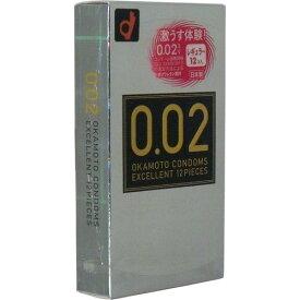 オカモト ゼロゼロツー エクセレント 12個入り 薄さ均一 002EX ナチュラル ( コンドーム・避妊具 スキン ) ( 4547691710482 )