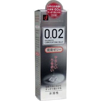 【限定特価】オカモト ゼロゼロツー 002 潤滑ゼリー 60g 無臭・無色透明 簡単に洗い流せる水溶性ローション ( 4547691730985 )