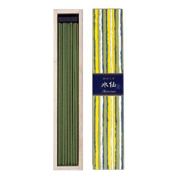 【まとめ買い×6】日本香堂 かゆらぎ 水仙 ( すいせん ) 40本入 香立付 燃焼時間:約25分 しっとりとした透明感のある、グリーンフローラルの香り ×6点セット(4902125384071)