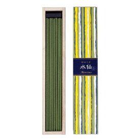 日本香堂 かゆらぎ 水仙 ( すいせん ) 40本入 香立付 燃焼時間:約25分 しっとりとした透明感のある、グリーンフローラルの香り ( 4902125384071 )