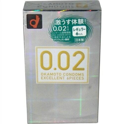 【スキン特売】オカモト 薄さ均一 002EX ナチュラル 6個入り 管理医療機器 日本製 ( コンドーム・避妊具 ) ( 4547691710499 )