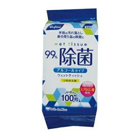 【送料無料・まとめ買い×10個セット】LD-103 リファイン アルコール 除菌詰替 100枚入