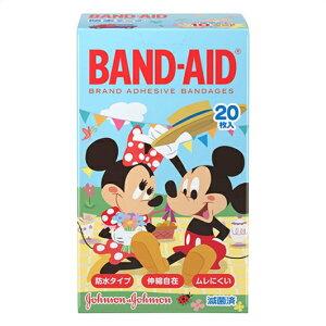 【10点セットで送料無料】ジョンソン バンドエイド 防水テープ ディズニーのなかまたち! 20枚入×10点セット ( 計200枚 ) こどもサイズ 一般医療機器 ( ディズニーキャラクター絆創膏 ) ( 49017