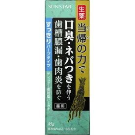サンスター 生薬 当帰の力で 薬用 塩 ハミガキ すっきりハーブタイプ 85g