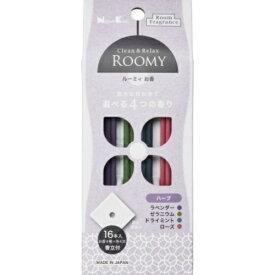 日本香堂 ROOMY C&R ハーブ 16本入 ( お香4種×各4本 ) 香立付