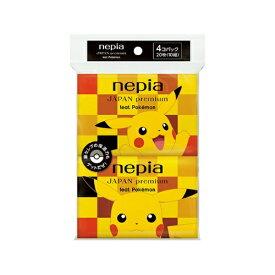 【送料込・まとめ買い×100個セット】王子ネピア ネピア JAPAN premium feat.Pokemon ポケット ティシュ 4コパック
